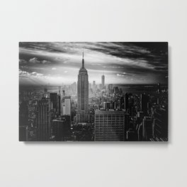 Empire State Building (Black and White) Metal Print