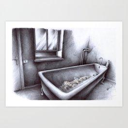 La vasca Art Print