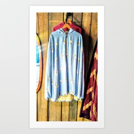 Flowers in blue-oom Art Print