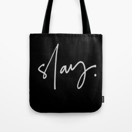 Slay (black) Tote Bag