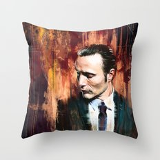 Dr. Hannibal Lecter Throw Pillow