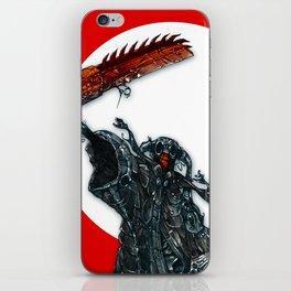 screaming chainsaw iPhone Skin