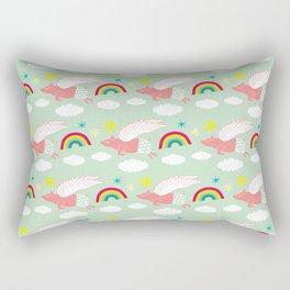 Pigs Can Fly! Rectangular Pillow