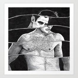 Marlon Brando, Crooked Art Print