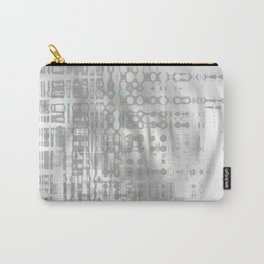 Weird shaky and foggy white and light grey texture on strange innocent wall Carry-All Pouch
