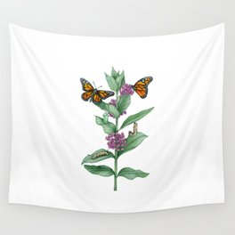 Monarch Butterfly Life Cycle Wall Tapestry