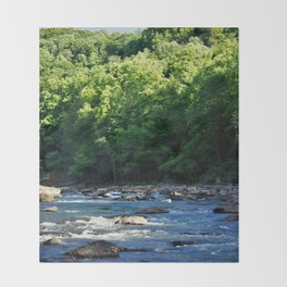 A Creek and Forest in West Virginia  Throw Blanket