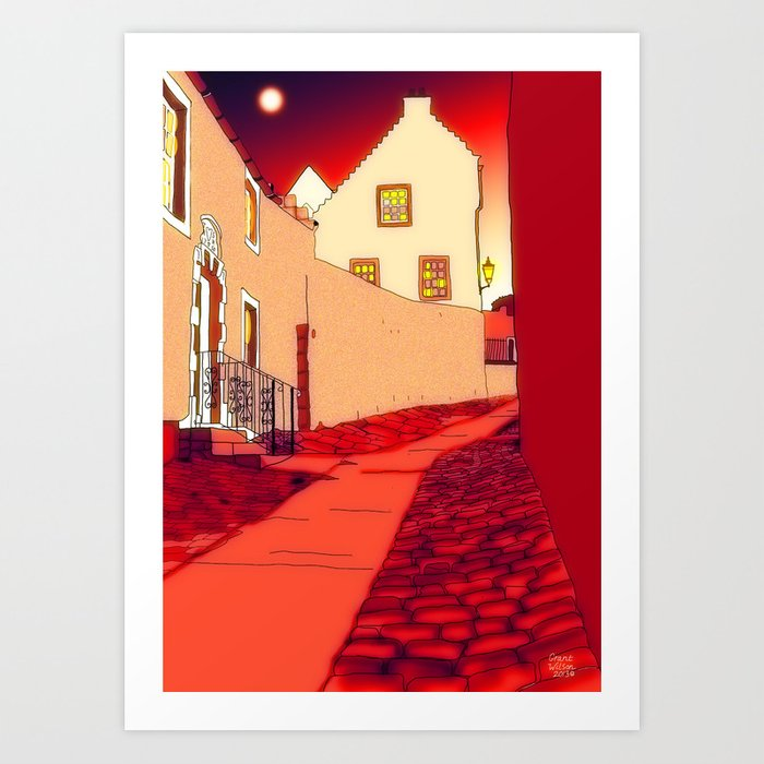 "Dysart: Scottish Town, ""Hie Gait""....version two! Art Print"