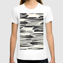 Rough Brush on Ivory T-shirt