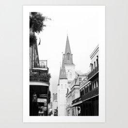 French Quarter Foggy Morning - New Orleans Art Print