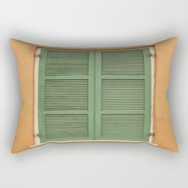 Green Shutters - Colorful Architecture in the New Orleans French Quarter Rectangular Pillow