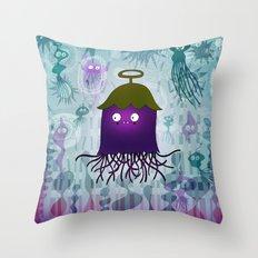underwater eggplant Throw Pillow