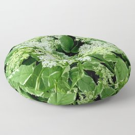 AWESOME DELICATE GREEN LACE FLOWERS Floor Pillow