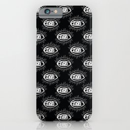 Eye of wisdom pattern - Black & White -  Mix & Match with Simplicity of Life iPhone Case
