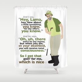 Carl Spackler and the Lama Shower Curtain