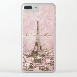 romantic Paris Clear iPhone Case