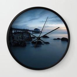 Mumbles Pier Morning Wall Clock