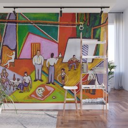 African American Masterpiece 'The Time of Your Life' by Beauford Delaney Wall Mural