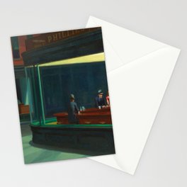 Edward Hopper's Nighthawks Stationery Cards