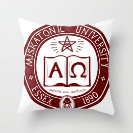 Miskatonic University in Crimson Throw Pillow