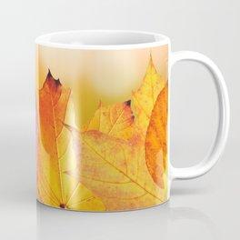 Autumn Leaves Colorful Modern Fine Art Photography Coffee Mug