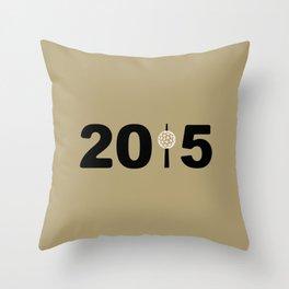 2015-NY-Gold Throw Pillow