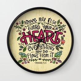 Guard Your Heart Wall Clock