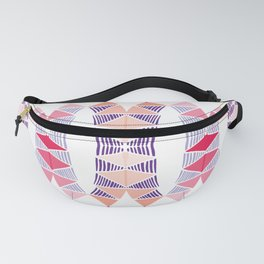 Colorful Tropical Vertical Geometric Zenspire Pattern Fanny Pack
