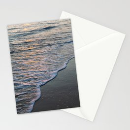 """Travel and beach photography """"a calm Mediterranean sea with waves in the sunset, at Naxos beach, Greece"""" Fine art photo print.  Stationery Cards"""