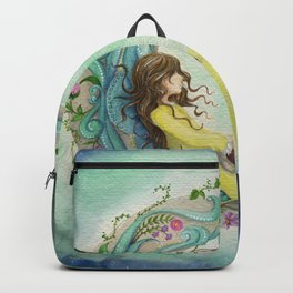 The Girl At The Moon Backpack