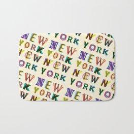 New York New York Bath Mat