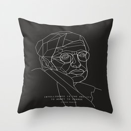 Stephen Hawking Quote Throw Pillow