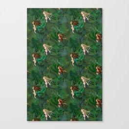 Mermaids in an Underwater Garden Canvas Print