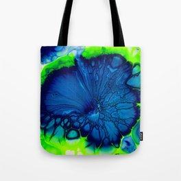 Indigo hibiscus Tote Bag