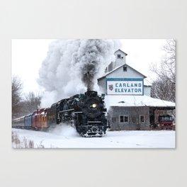 Polar Express! Pere Marquette 1225 Steam Engine Canvas Print