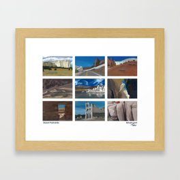 Desert Postcards Framed Art Print