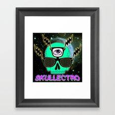 Skullectro Framed Art Print