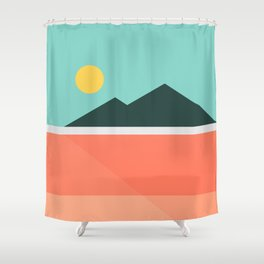 Geometric Landscape 16 Shower Curtain