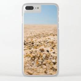 Grains of Sand Clear iPhone Case