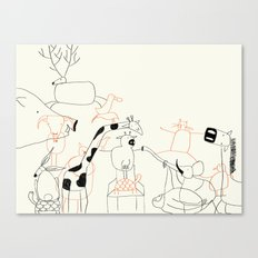Animales everywhere Canvas Print