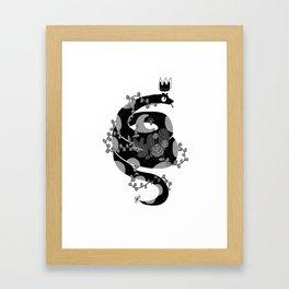 A witch companion Framed Art Print