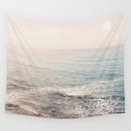 Peachy Sunset Dreams Wall Tapestry