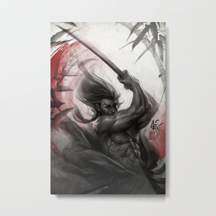Samurai Spirit - Aura Metal Print