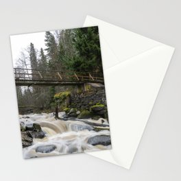 Rapids and bridge Stationery Cards