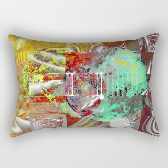 technical mosaic world Rectangular Pillow