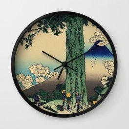 Hokusai Katsushika - Mishima Pass In Kai Province Wall Clock