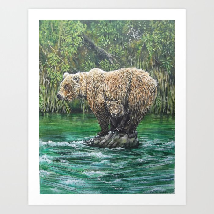 Bear Today, Gone Tomorrow? Art Print