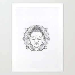 Buddha Mandala Lotus Art Print