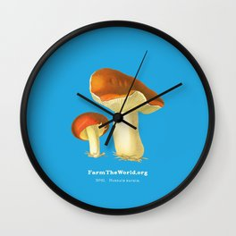 Farm the World - Russula Aurata Mushroom Wall Clock