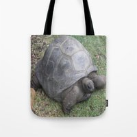 tortoise Tote Bags featuring tortoise by shannon's art space
